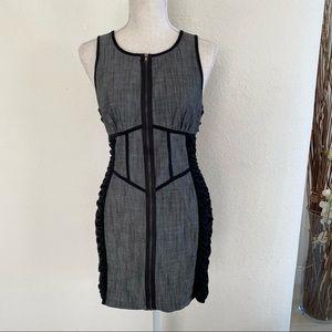 Do & Be Sleeveless Front Zipper Sexy Bodycon Dress